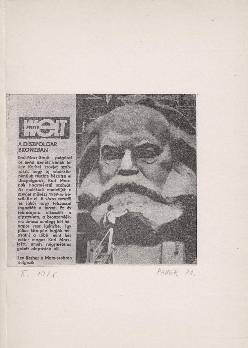 Pauer Gyula: Marx-Lenin (1971)