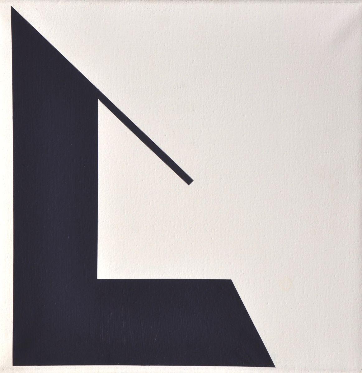 Halász Károly: S. kék forma 3,4 (1980 körül)