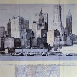 Two lower Manhattan wrapped buildings, project for New York