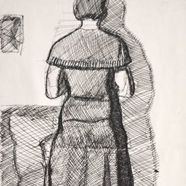 Standing Woman in the studio