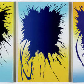 Yellow-blue triptych